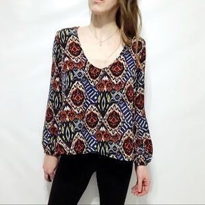 Lovers + Friends Tribal Print High-Low Top 16-0384